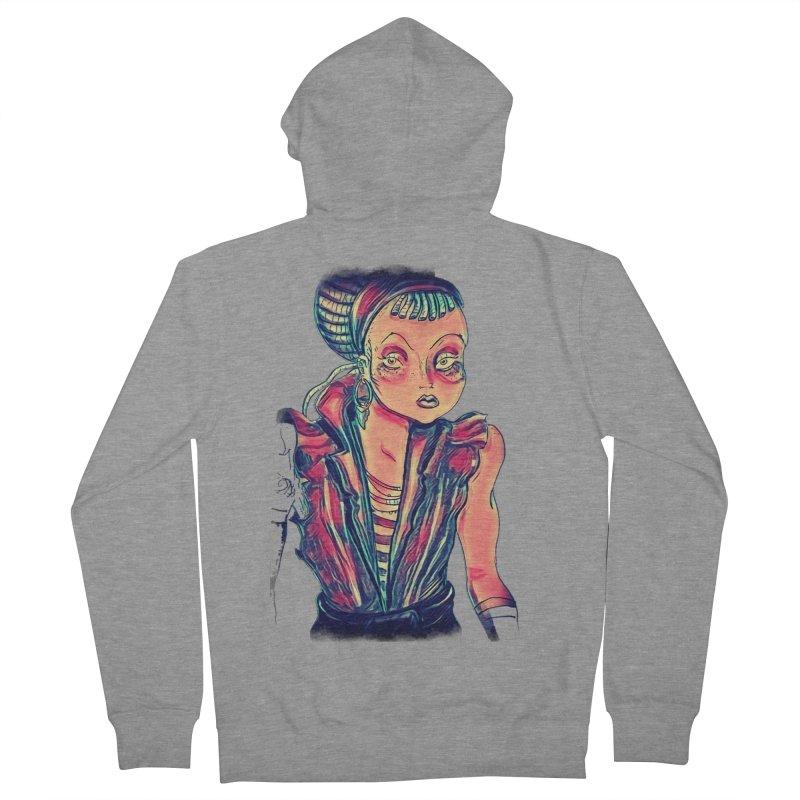 Bandit Queen Men's Zip-Up Hoody by dasiavou's Artist Shop