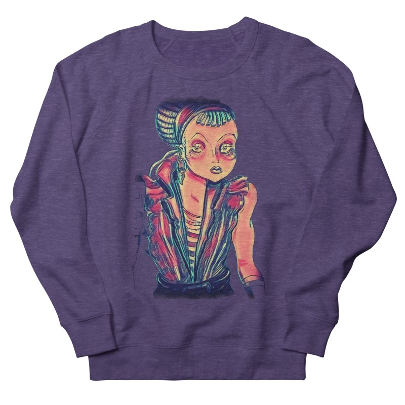Bandit Queen Women's French Terry Sweatshirt by dasiavou's Artist Shop