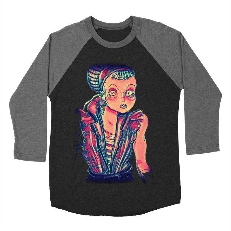 Bandit Queen Women's Baseball Triblend Longsleeve T-Shirt by dasiavou's Artist Shop