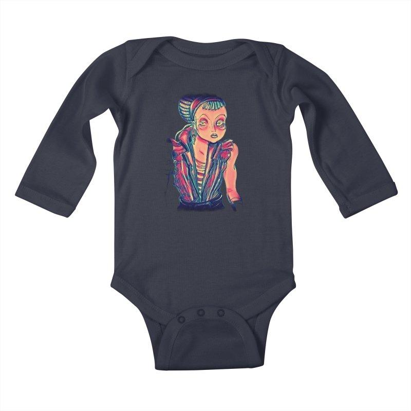 Bandit Queen Kids Baby Longsleeve Bodysuit by dasiavou's Artist Shop