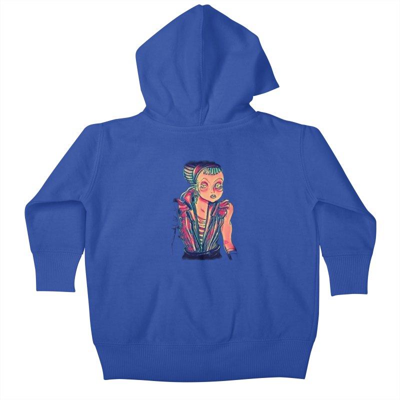 Bandit Queen Kids Baby Zip-Up Hoody by dasiavou's Artist Shop