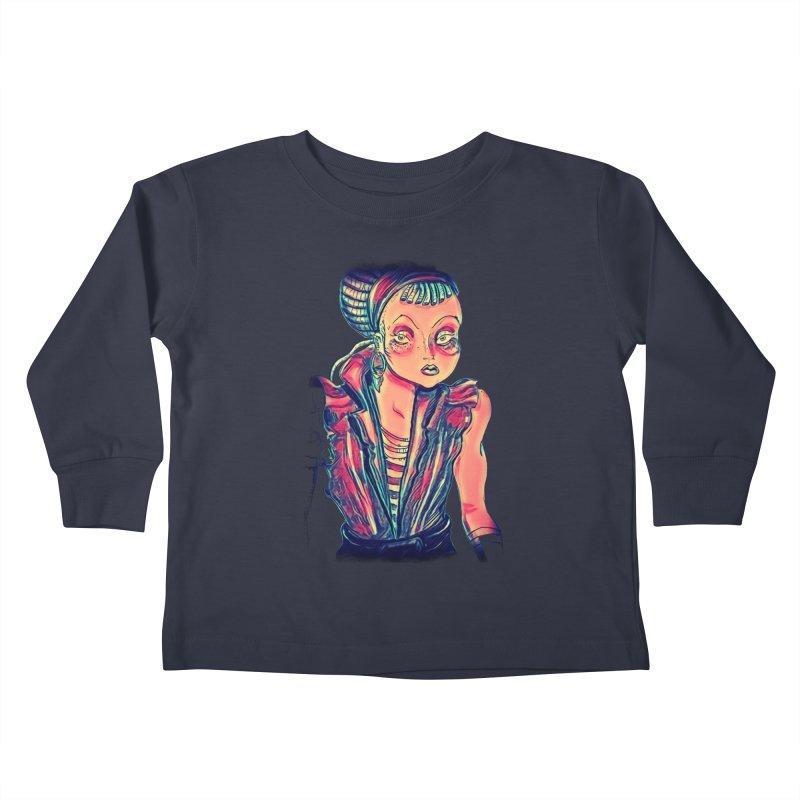 Bandit Queen Kids Toddler Longsleeve T-Shirt by dasiavou's Artist Shop
