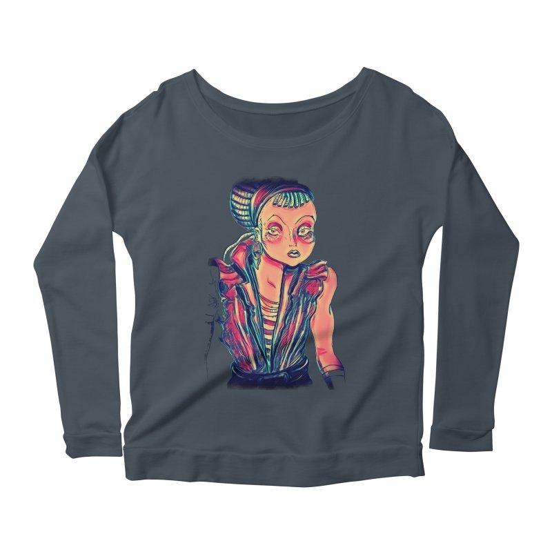 Bandit Queen Women's Scoop Neck Longsleeve T-Shirt by dasiavou's Artist Shop