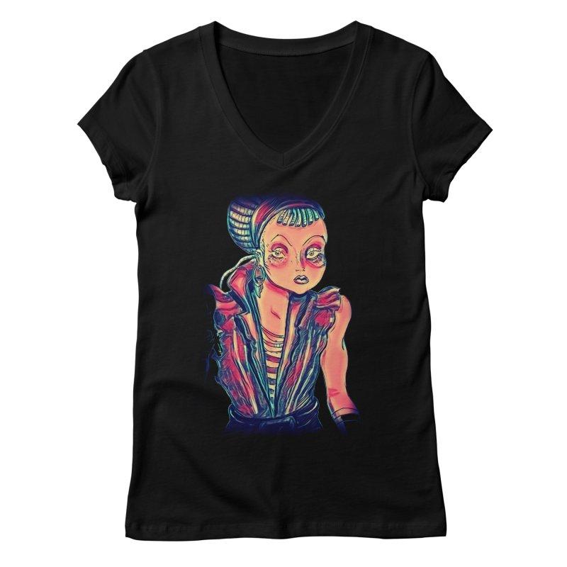Bandit Queen Women's Regular V-Neck by dasiavou's Artist Shop