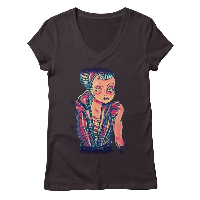 Bandit Queen Women's V-Neck by dasiavou's Artist Shop