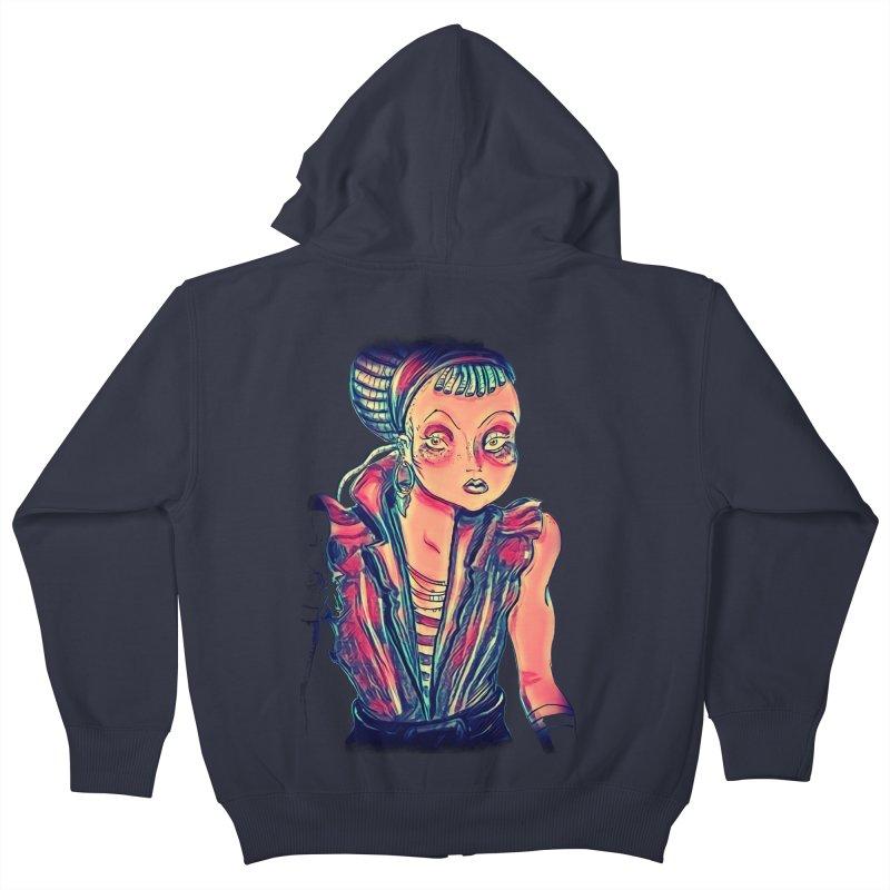 Bandit Queen Kids Zip-Up Hoody by dasiavou's Artist Shop