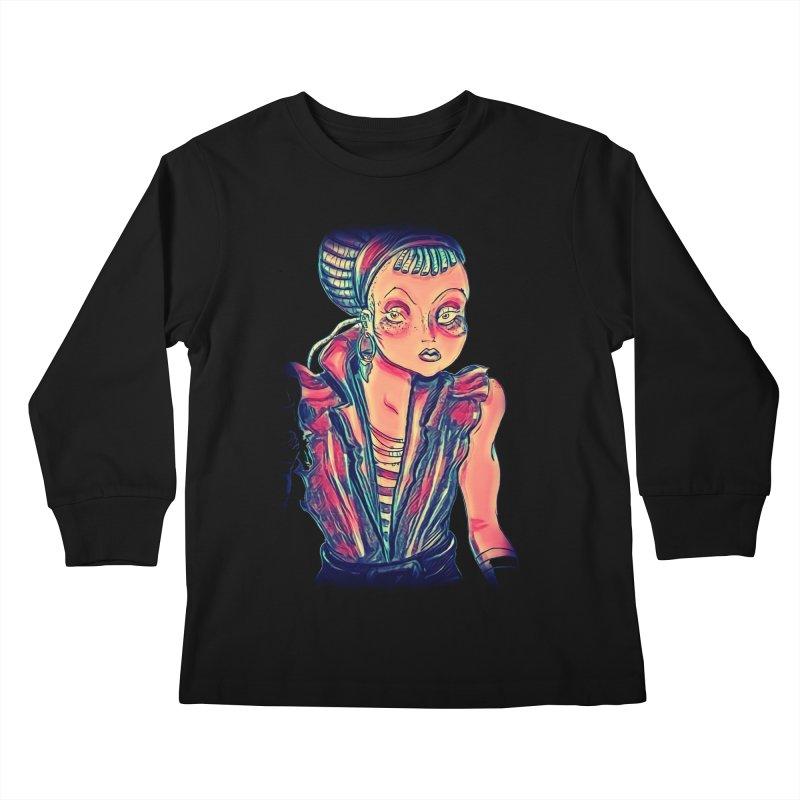 Bandit Queen Kids Longsleeve T-Shirt by dasiavou's Artist Shop