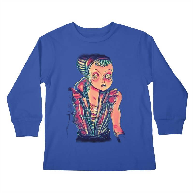 Bandit Queen Kids Longsleeve T-Shirt by dasiavou's Artist Shop