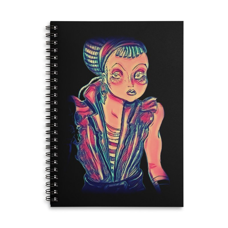 Bandit Queen Accessories Lined Spiral Notebook by dasiavou's Artist Shop