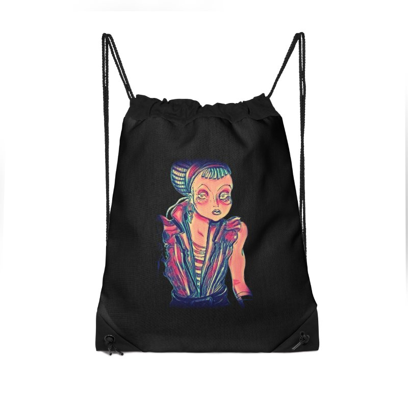 Bandit Queen Accessories Drawstring Bag Bag by dasiavou's Artist Shop