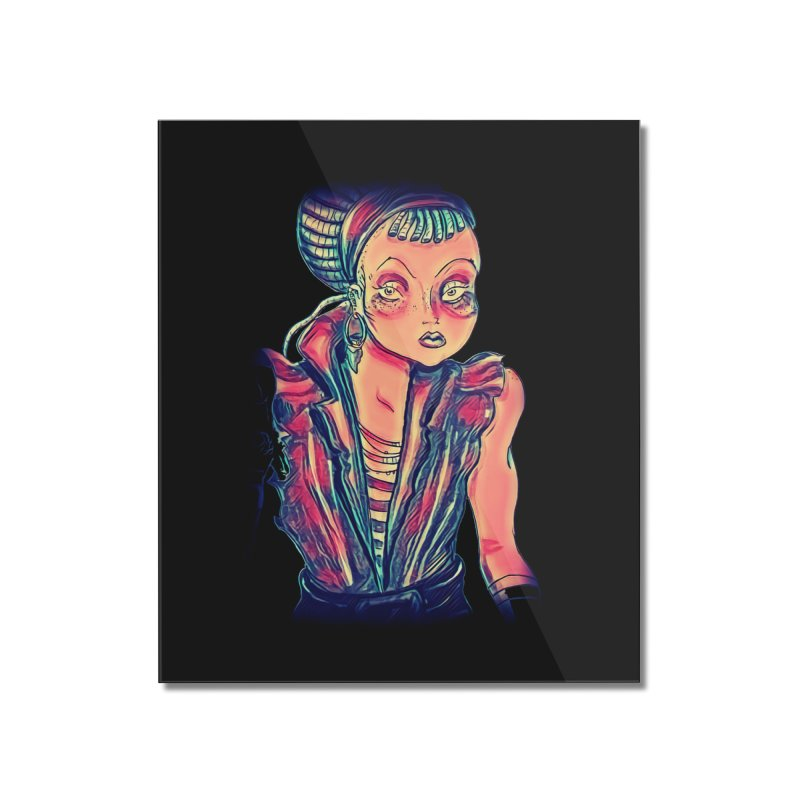 Bandit Queen Home Mounted Acrylic Print by dasiavou's Artist Shop
