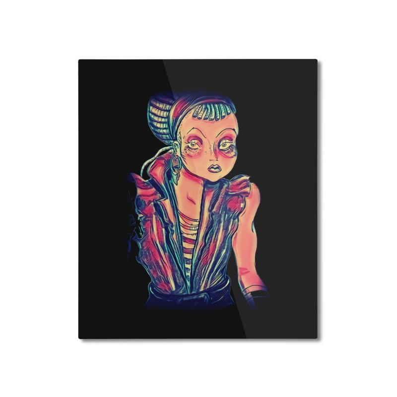 Bandit Queen Home Mounted Aluminum Print by dasiavou's Artist Shop