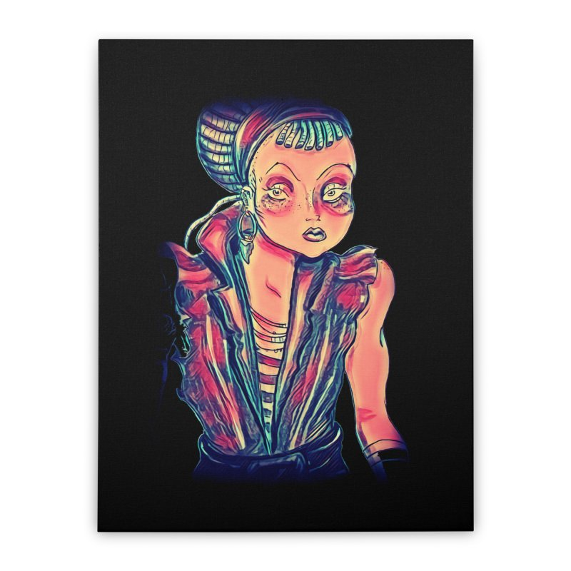 Bandit Queen Home Stretched Canvas by dasiavou's Artist Shop