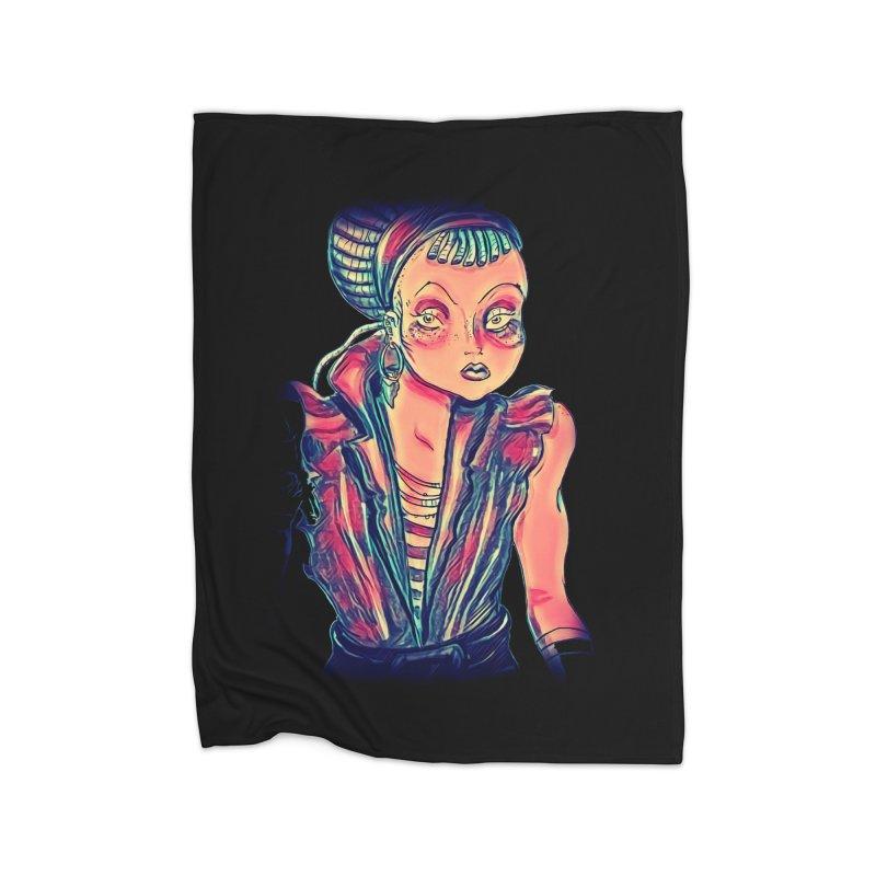 Bandit Queen Home Fleece Blanket Blanket by dasiavou's Artist Shop