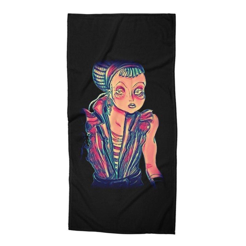 Bandit Queen Accessories Beach Towel by dasiavou's Artist Shop