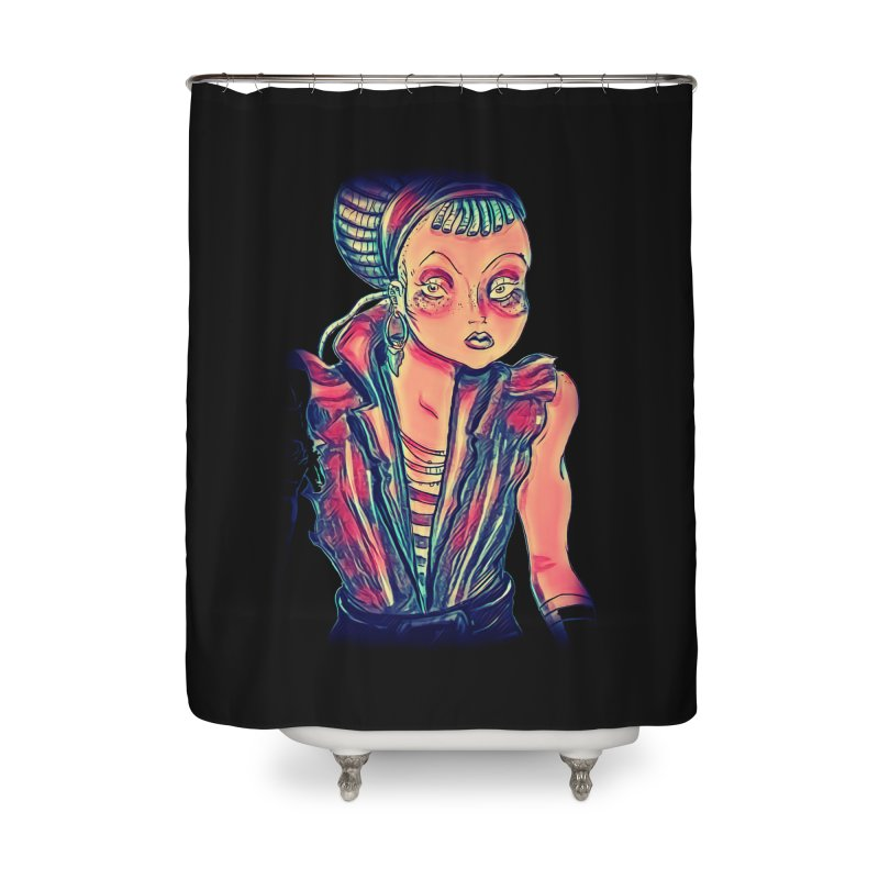 Bandit Queen Home Shower Curtain by dasiavou's Artist Shop