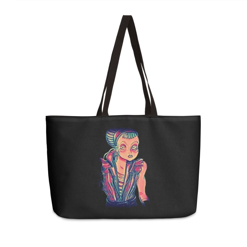 Bandit Queen Accessories Weekender Bag Bag by dasiavou's Artist Shop