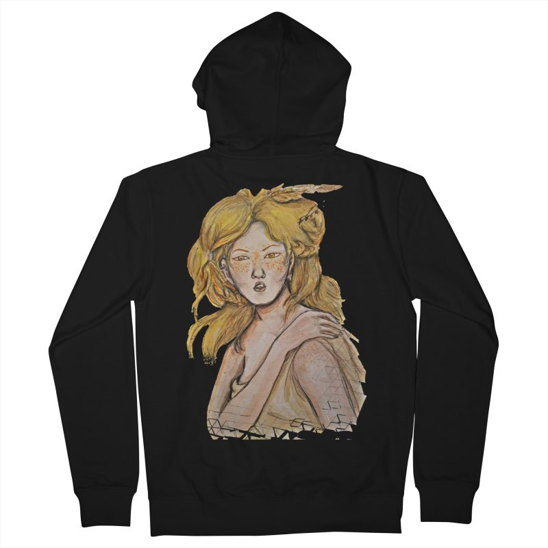 Dissipate Women's French Terry Zip-Up Hoody by dasiavou's Artist Shop