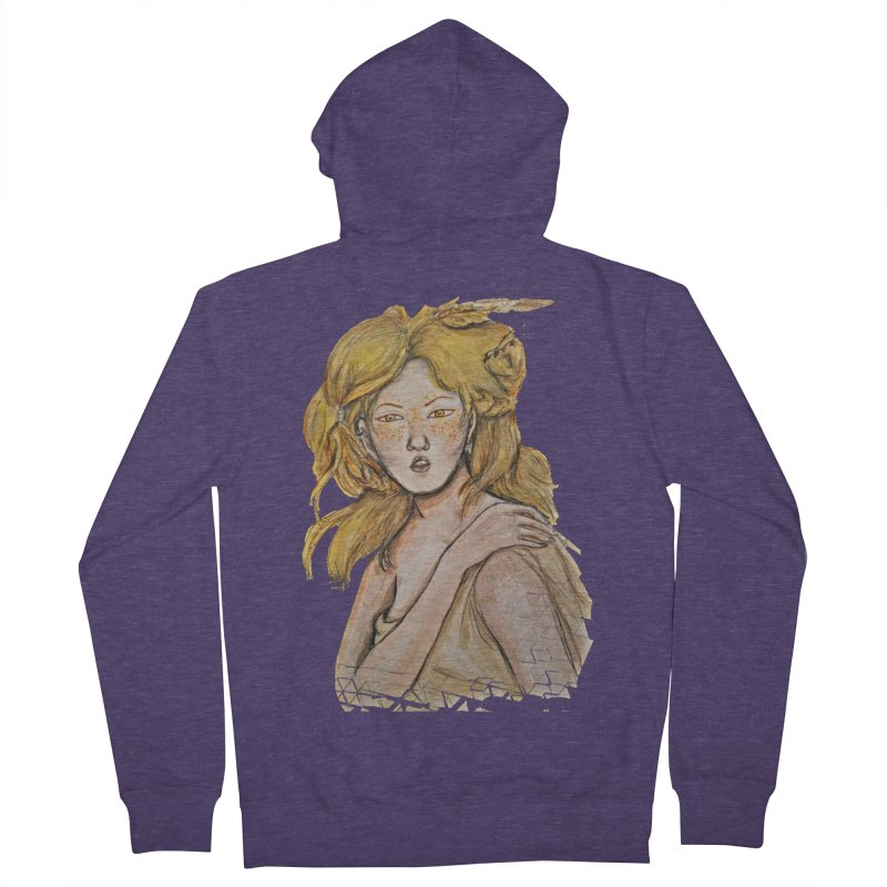 Dissipate Men's French Terry Zip-Up Hoody by dasiavou's Artist Shop
