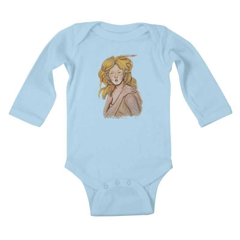 Dissipate Kids Baby Longsleeve Bodysuit by dasiavou's Artist Shop