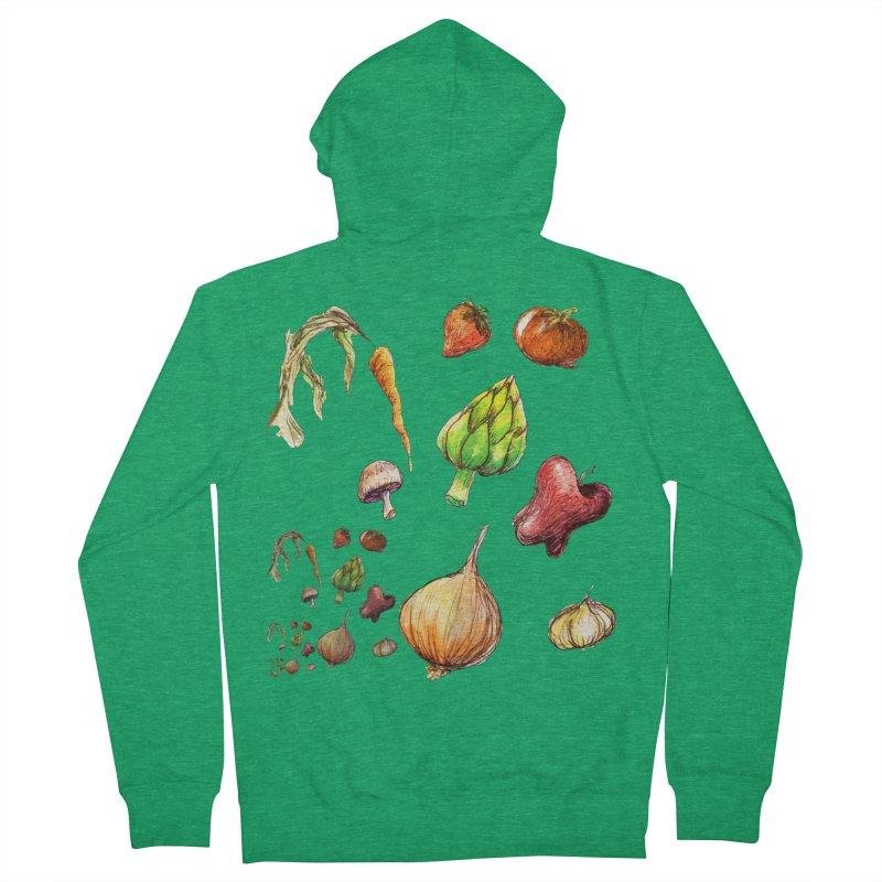 Romanesco Men's Zip-Up Hoody by dasiavou's Artist Shop