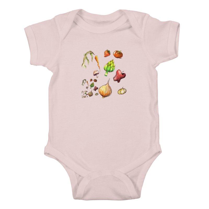 Romanesco Kids Baby Bodysuit by dasiavou's Artist Shop