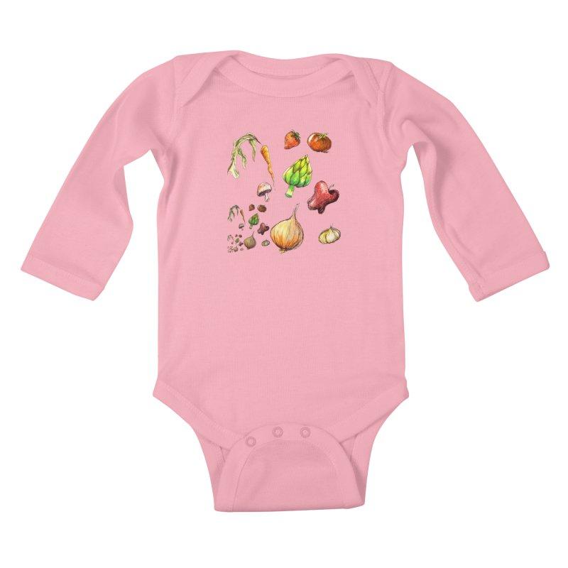 Romanesco Kids Baby Longsleeve Bodysuit by dasiavou's Artist Shop