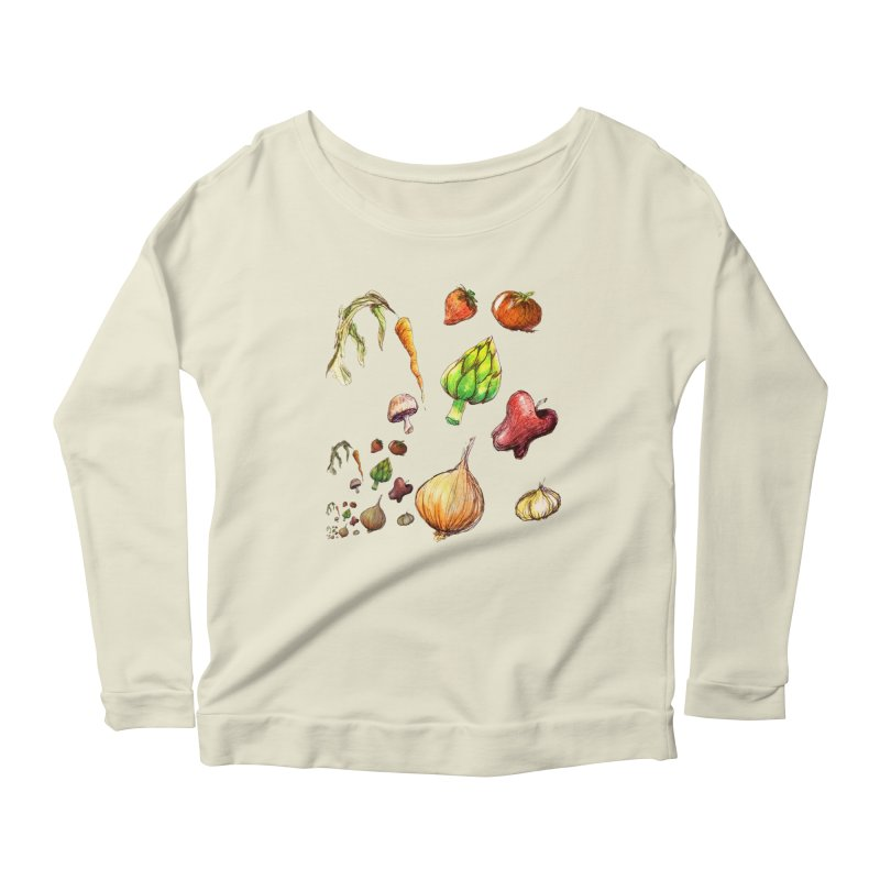 Romanesco Women's Longsleeve Scoopneck  by dasiavou's Artist Shop