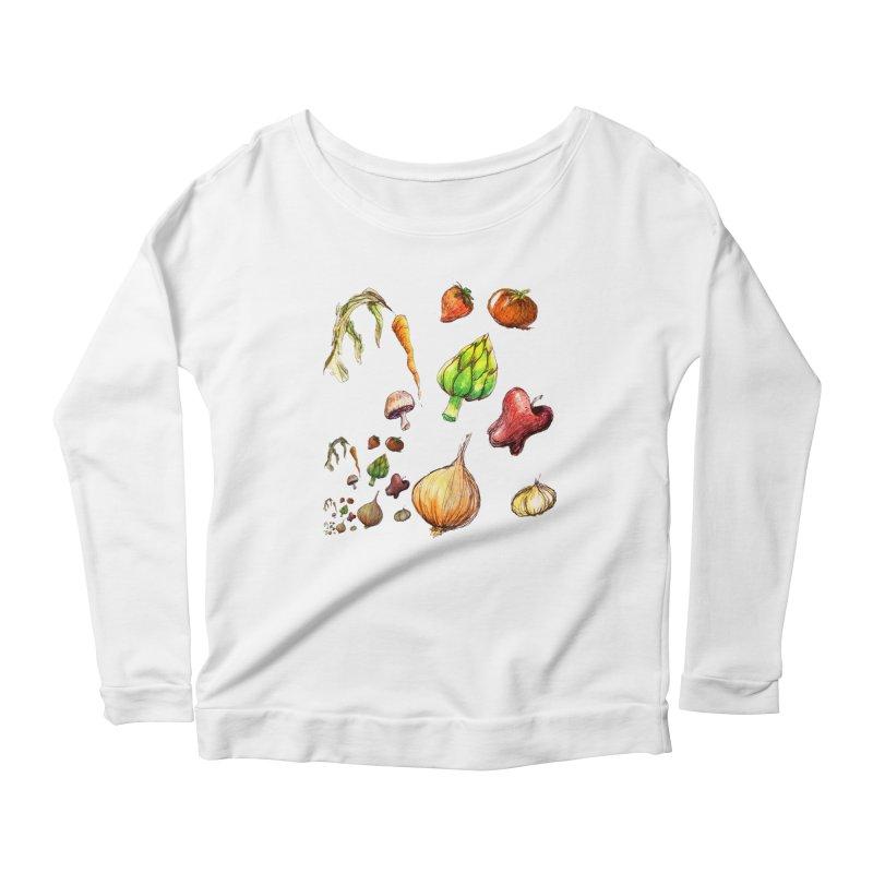 Romanesco Women's Scoop Neck Longsleeve T-Shirt by dasiavou's Artist Shop