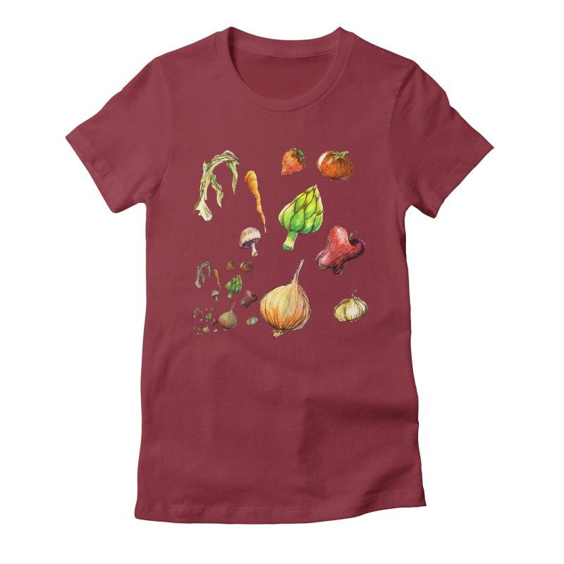 Romanesco Women's Fitted T-Shirt by dasiavou's Artist Shop