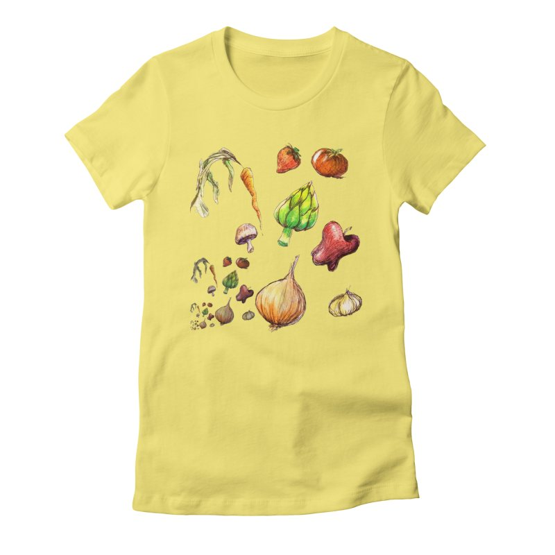 Romanesco Women's Fitted T-Shirt by dasiavou's Artist Shop