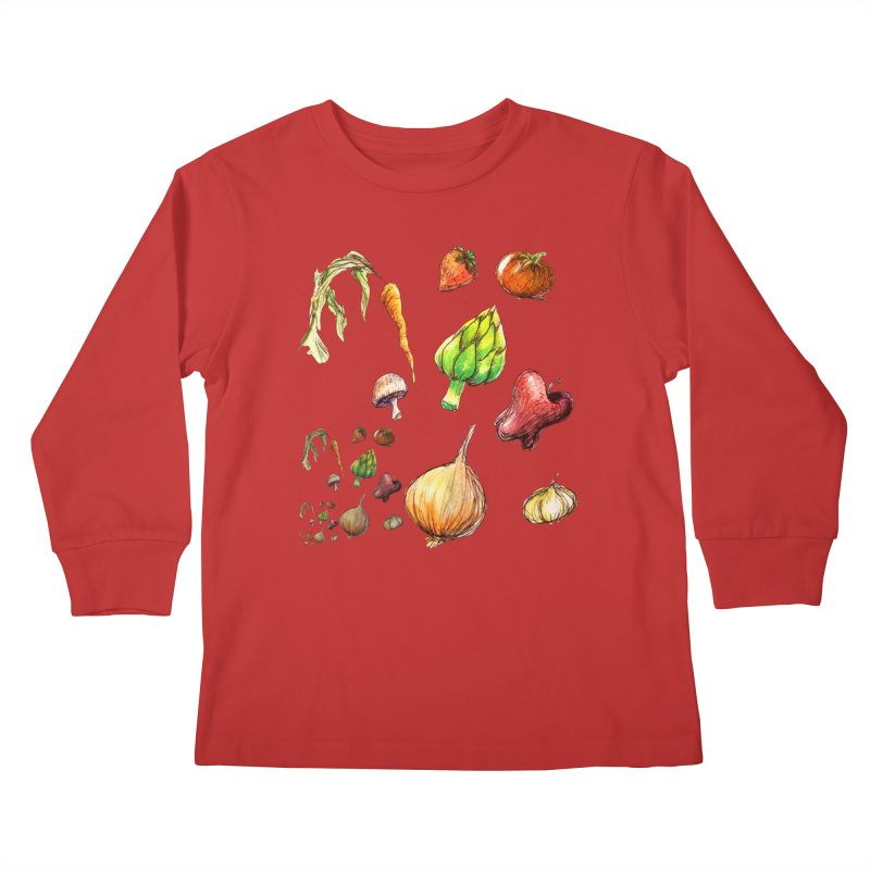 Romanesco Kids Longsleeve T-Shirt by dasiavou's Artist Shop