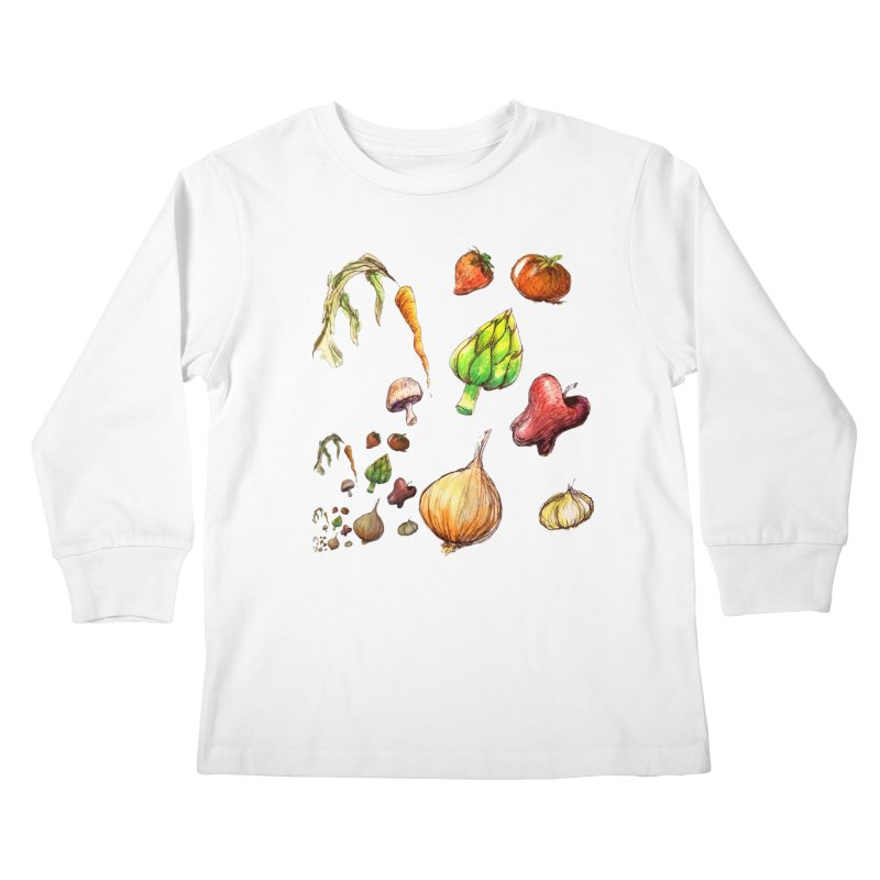 Romanesco Kids Longsleeve T-Shirt by dasiavou's Artist Shop