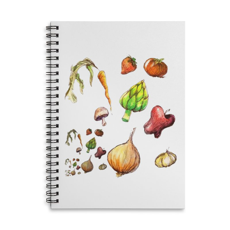 Romanesco Accessories Lined Spiral Notebook by dasiavou's Artist Shop