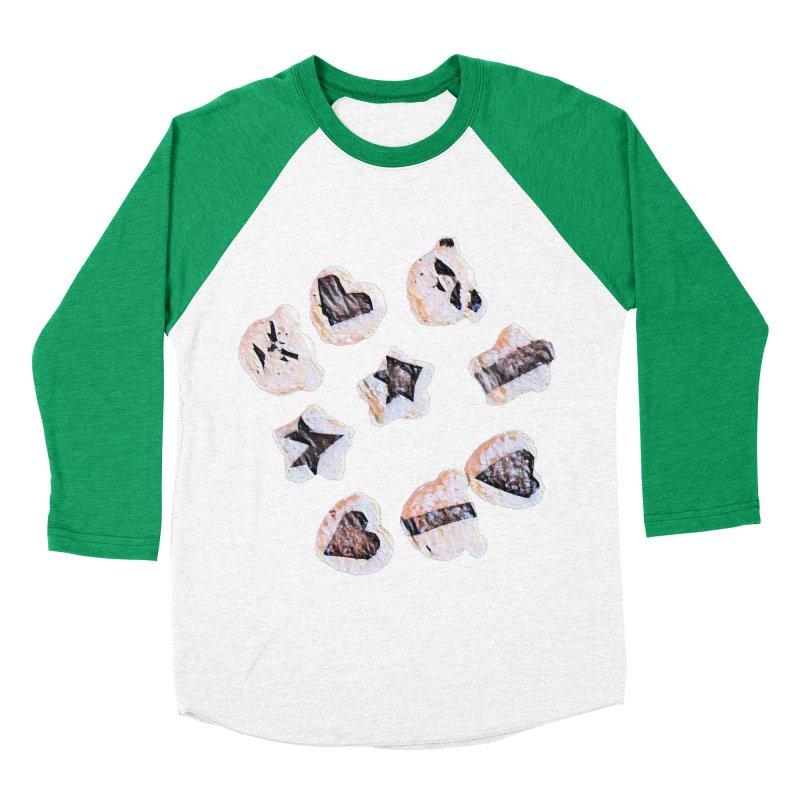 Onigiri Women's Baseball Triblend T-Shirt by dasiavou's Artist Shop