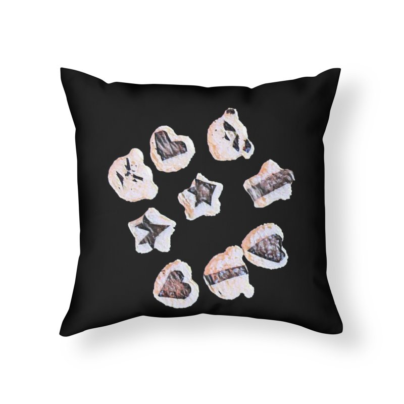 Onigiri Home Throw Pillow by dasiavou's Artist Shop