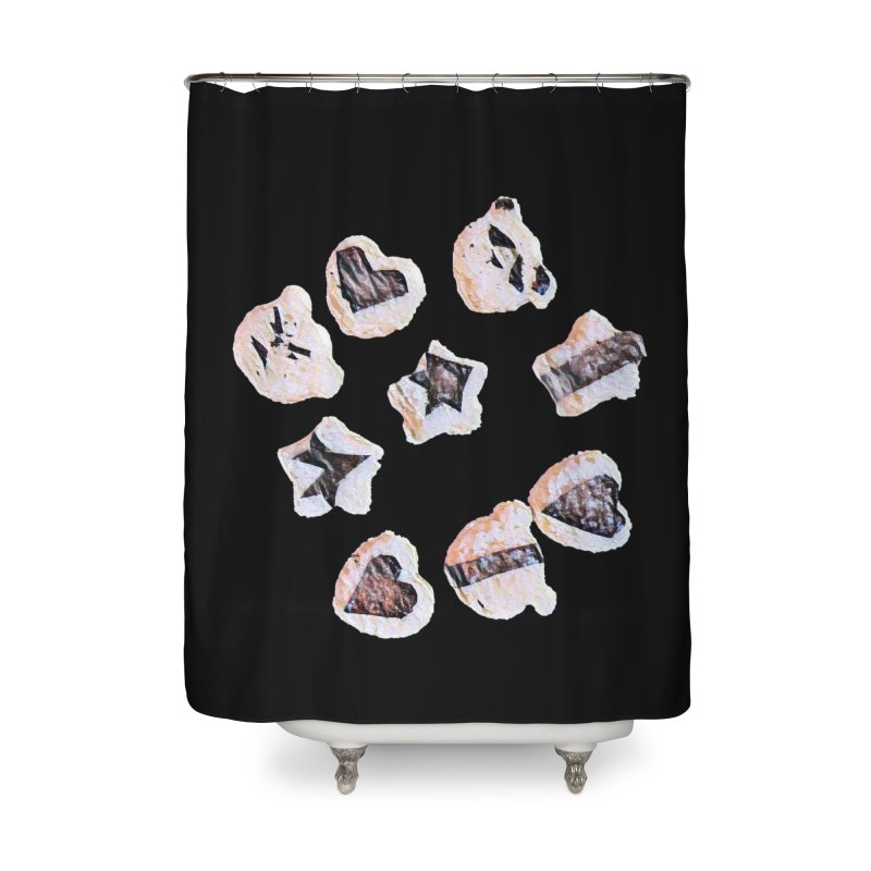 Onigiri Home Shower Curtain by dasiavou's Artist Shop