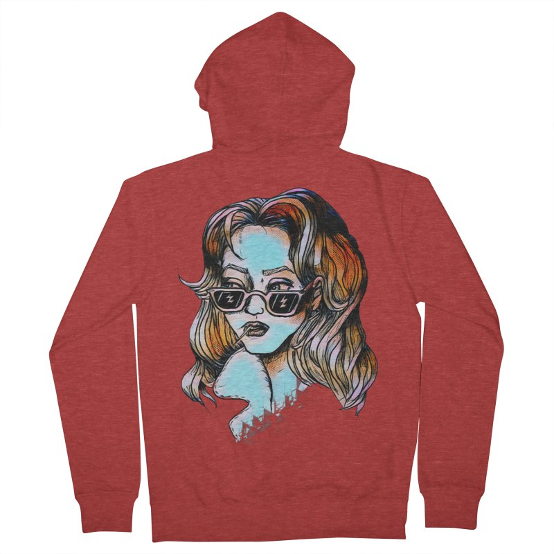 Flashback Women's French Terry Zip-Up Hoody by dasiavou's Artist Shop