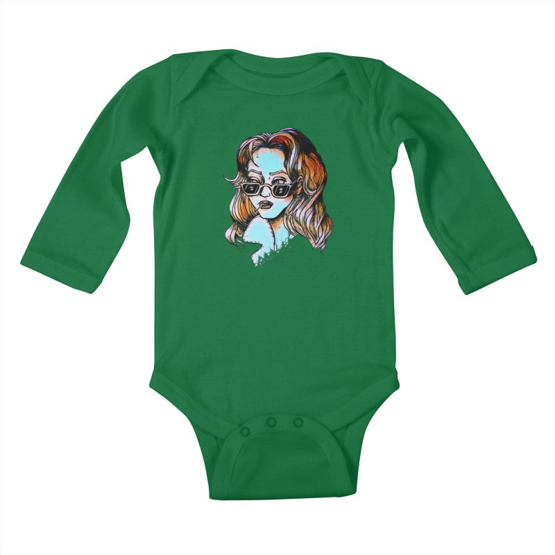 Flashback Kids Baby Longsleeve Bodysuit by dasiavou's Artist Shop