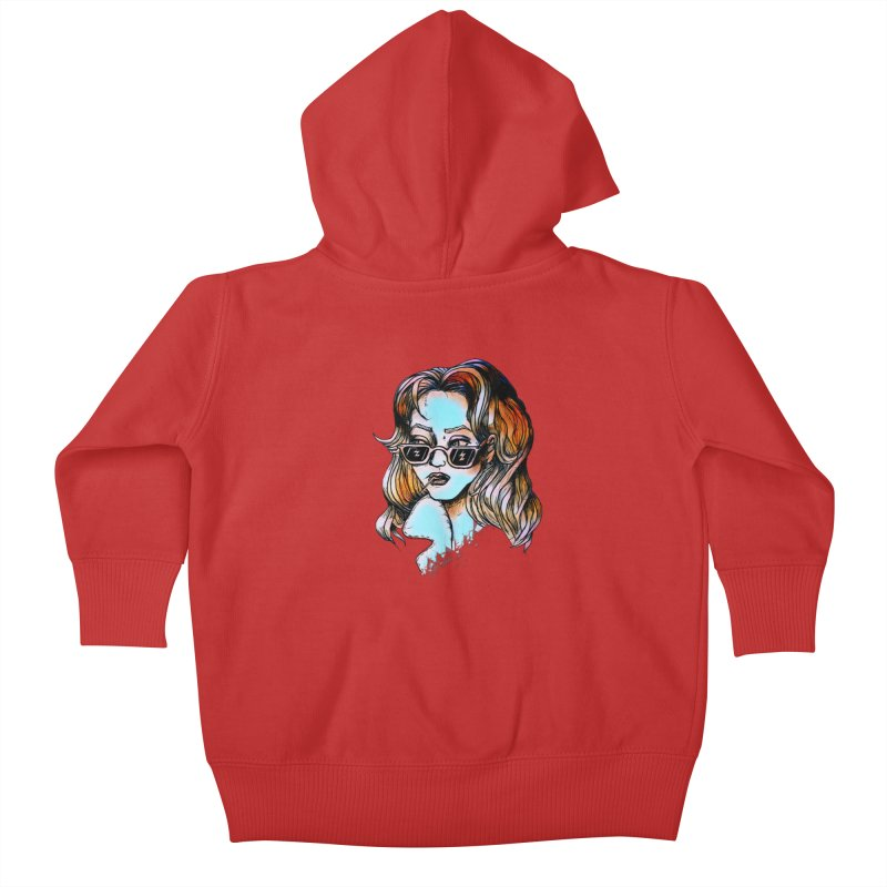 Flashback Kids Baby Zip-Up Hoody by dasiavou's Artist Shop
