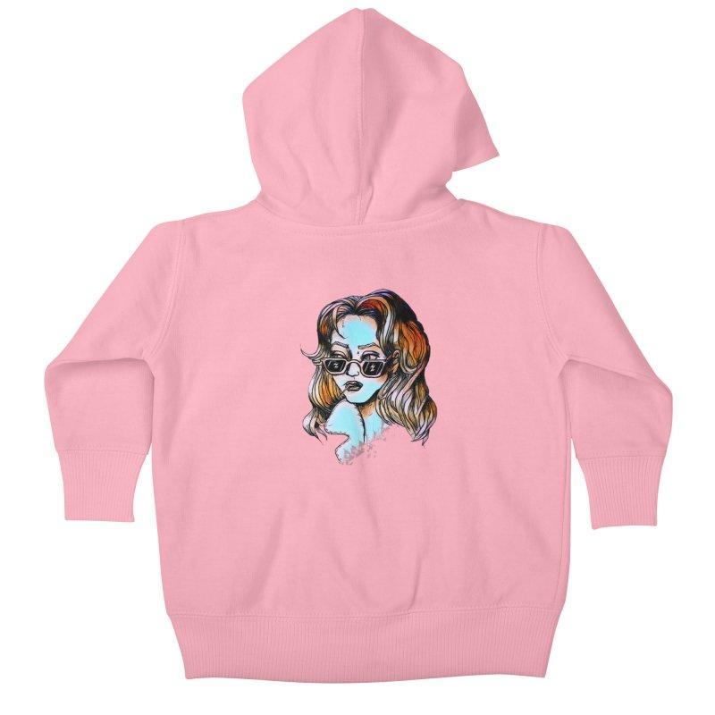 Flashback Kids Baby Zip-Up Hoody by dasiavou's Artist Shop