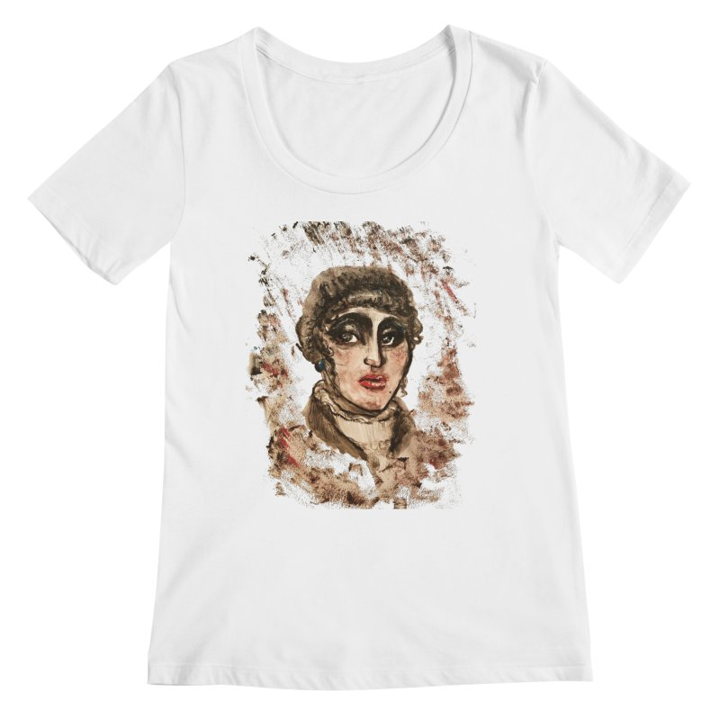 The Widow St. Claire Women's Regular Scoop Neck by dasiavou's Artist Shop