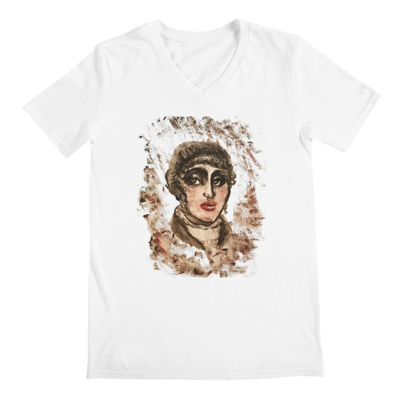 The Widow St. Claire Men's Regular V-Neck by dasiavou's Artist Shop