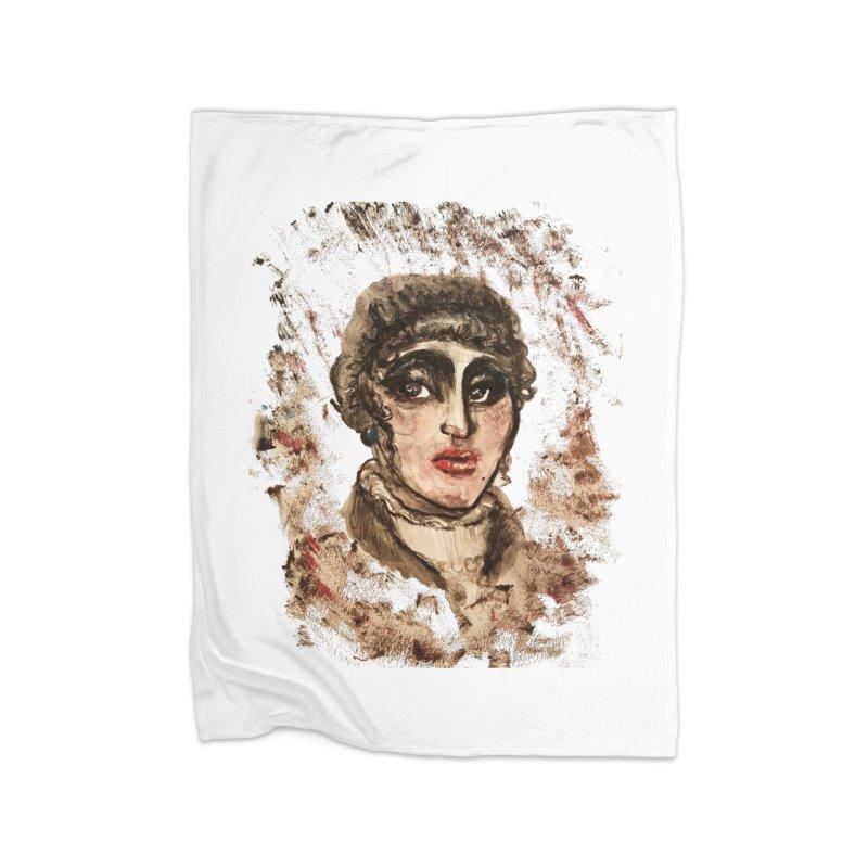 The Widow St. Claire Home Fleece Blanket Blanket by dasiavou's Artist Shop