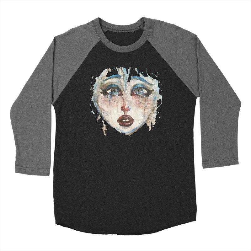Bleu Women's Baseball Triblend Longsleeve T-Shirt by dasiavou's Artist Shop