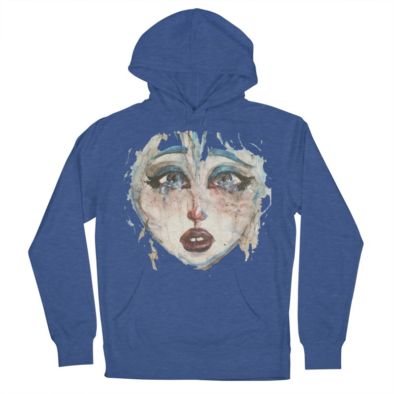 Bleu Women's French Terry Pullover Hoody by dasiavou's Artist Shop