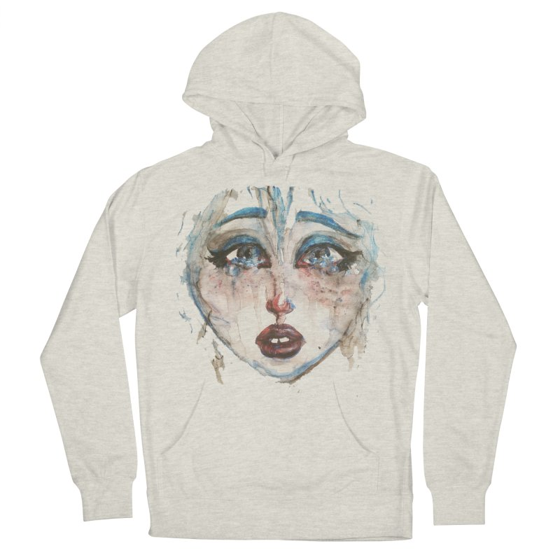 Bleu Men's French Terry Pullover Hoody by dasiavou's Artist Shop