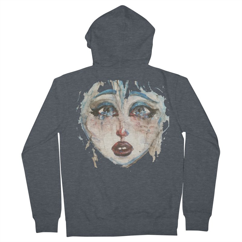 Bleu Women's French Terry Zip-Up Hoody by dasiavou's Artist Shop