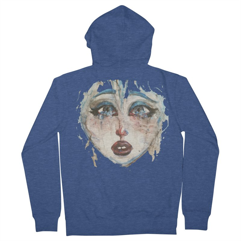 Bleu Men's Zip-Up Hoody by dasiavou's Artist Shop