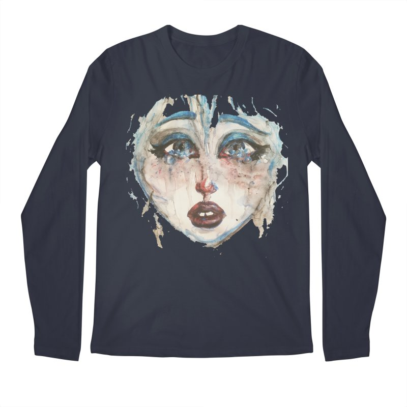 Bleu Men's Longsleeve T-Shirt by dasiavou's Artist Shop